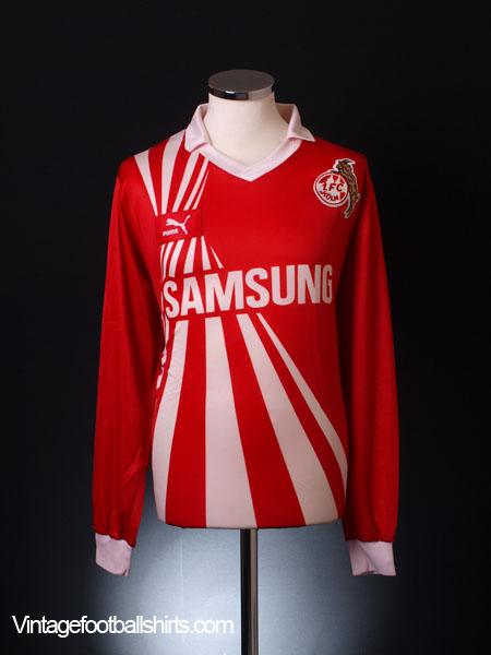 1990-91 FC Koln Match Issue UEFA Cup Away Shirt #3 XL
