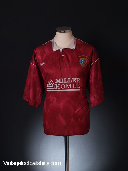 1990-91 Hearts Home Shirt L