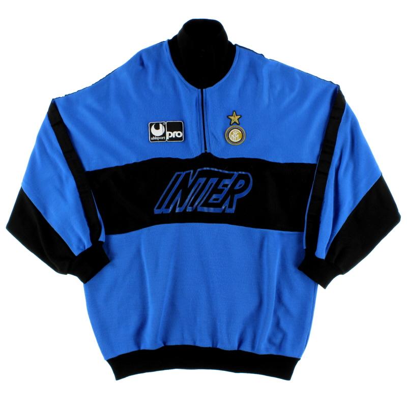 1990-91 Inter Milan Uhlsport 1/4 Zip Drill Top L