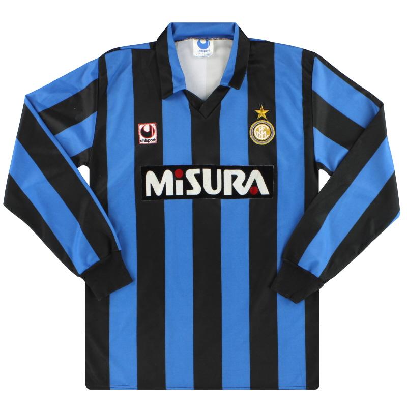 1990-91 Inter Milan uhlsport Home Shirt L/S M