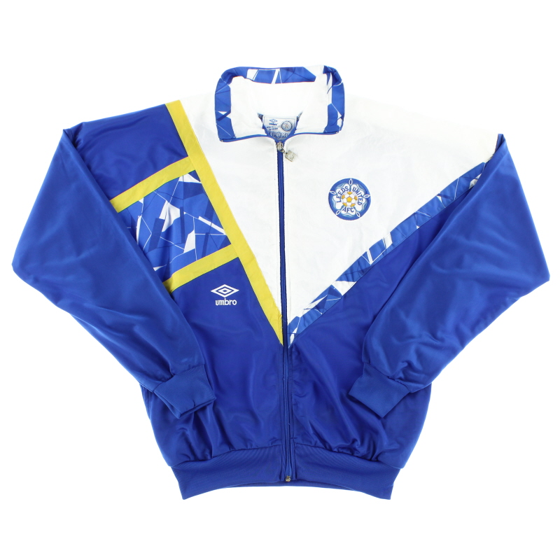 1990-91 Leeds Umbro Tack Jacket *As New* M