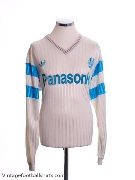 1990-91 Olympique Marseille Home Shirt L/S XL