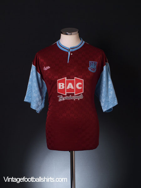 1990-91 West Ham Home Shirt M