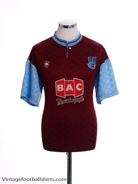 1990-91 West Ham Home Shirt *Mint* L