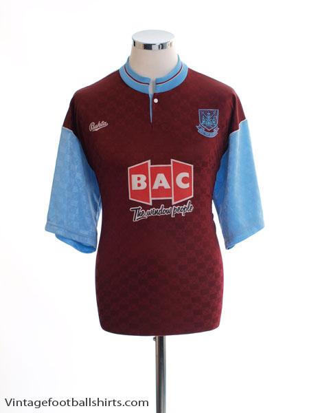 1990-91 West Ham Home Shirt L.Boys