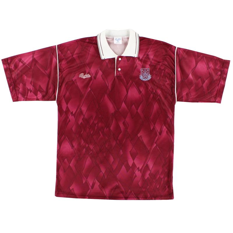 1990-91 West Ham United Bukta Leisure Shirt M