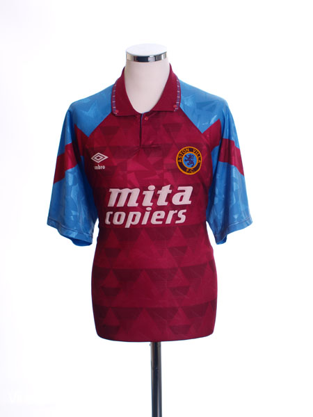 1990-92 Aston Villa Home Shirt L