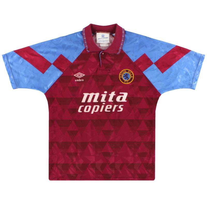 1990-92 Aston Villa Umbro Home Shirt M