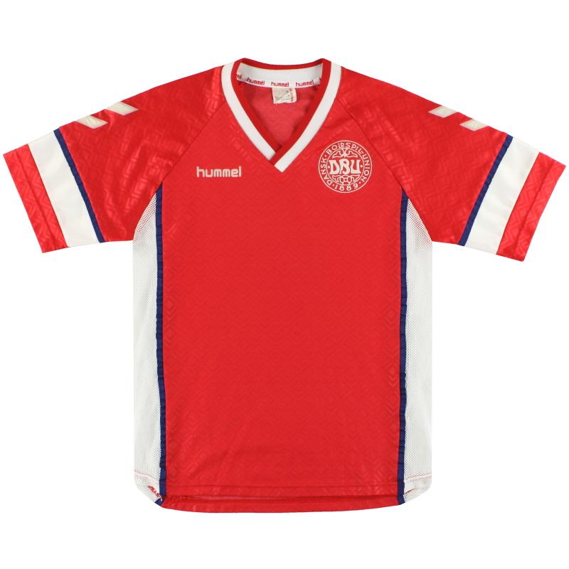 1990-92 Denmark Hummel Home Shirt M