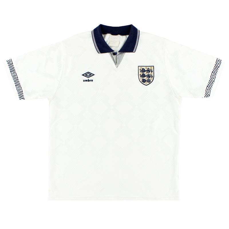 1990-92 England Home Shirt L