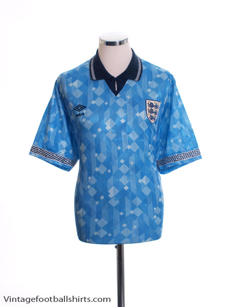 1990-92 England Third Shirt L