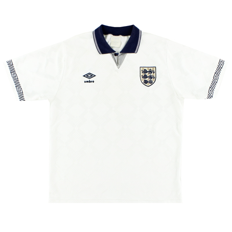 1990-92 England Umbro Home Shirt XL