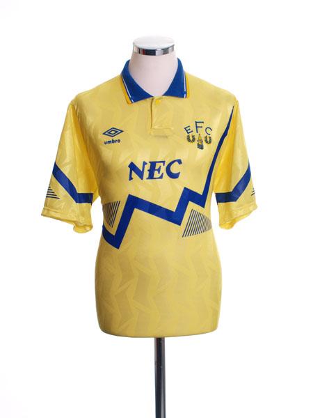 1990-92 Everton Away Shirt L