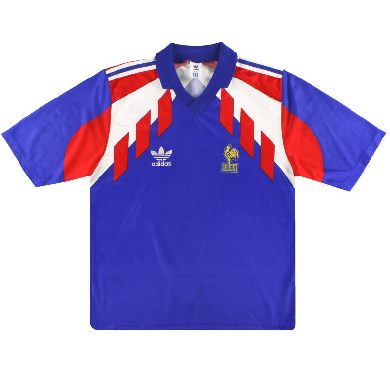 1990-92 France adidas Home Shirt L