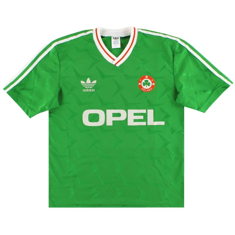 1990-92 Ireland adidas Home Shirt S
