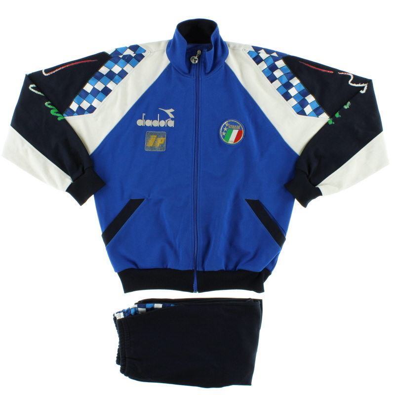 1990-92 Italy Diadora Player Issue Tracksuit L