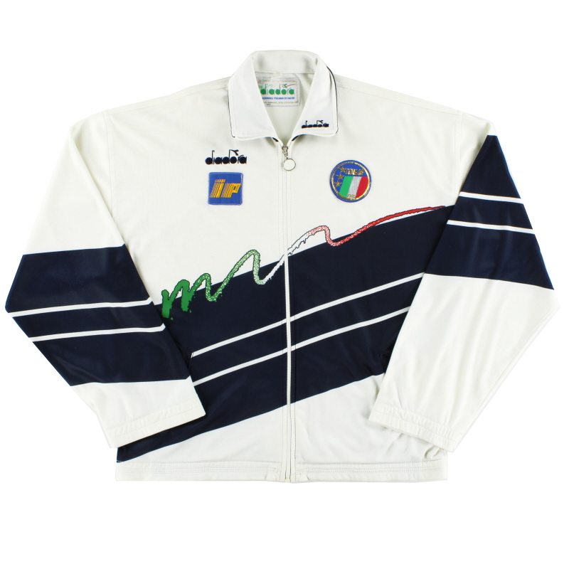 1990-92 Italy Player Issue Diadora Track Jacket L