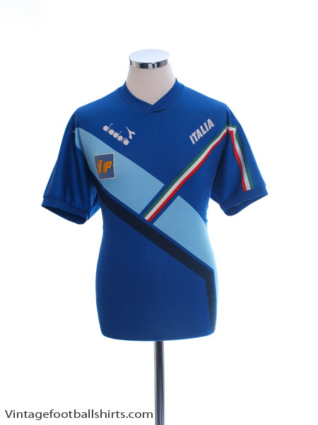 1990-92 Italy Player Issue Diadora Training Shirt #17 L