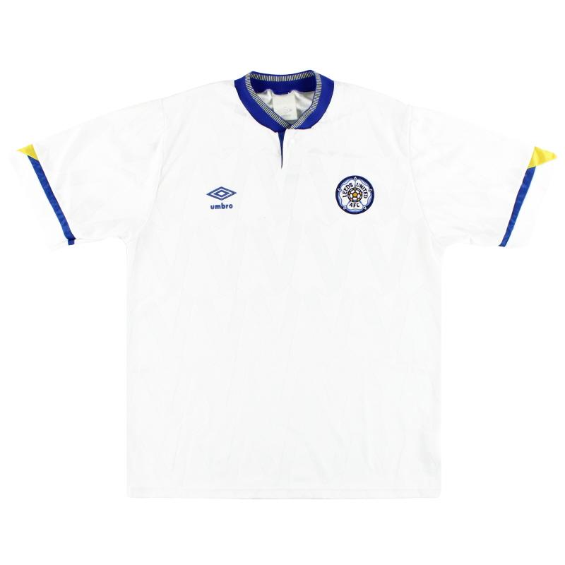 1990-92 Leeds Home Shirt L