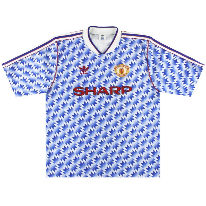 1990-92 Manchester United adidas Away Shirt M - 301088