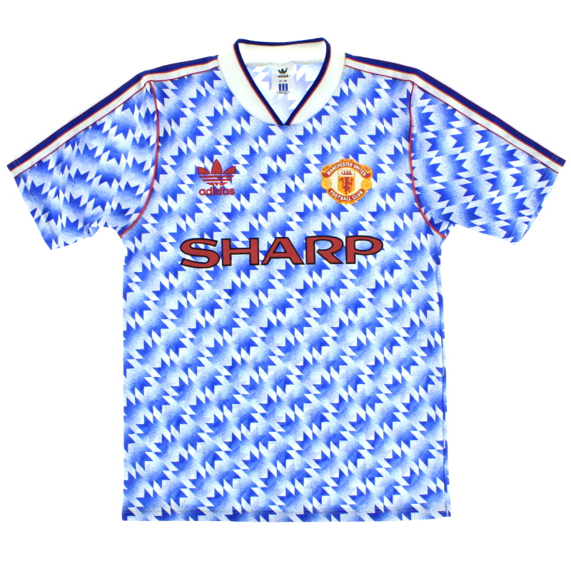 1990-92 Manchester United adidas Away Shirt L - 301088