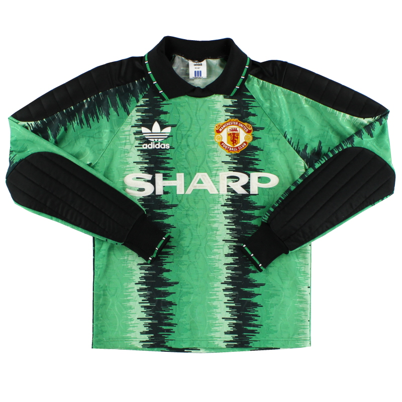 1990-92 Manchester United Goalkeeper Shirt L.Boys