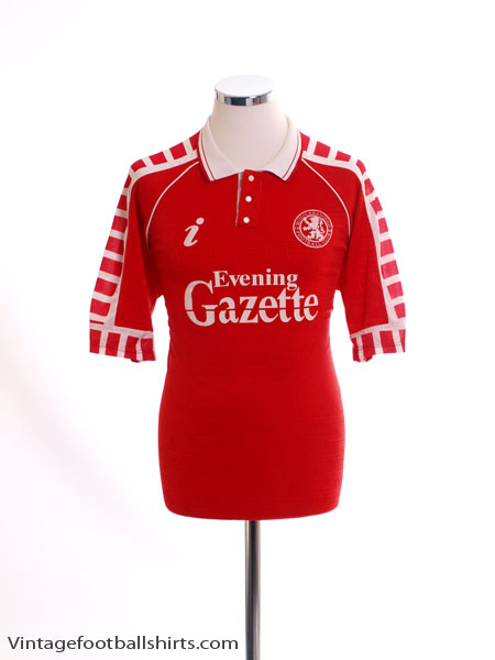 1990-92 Middlesbrough Home Shirt M