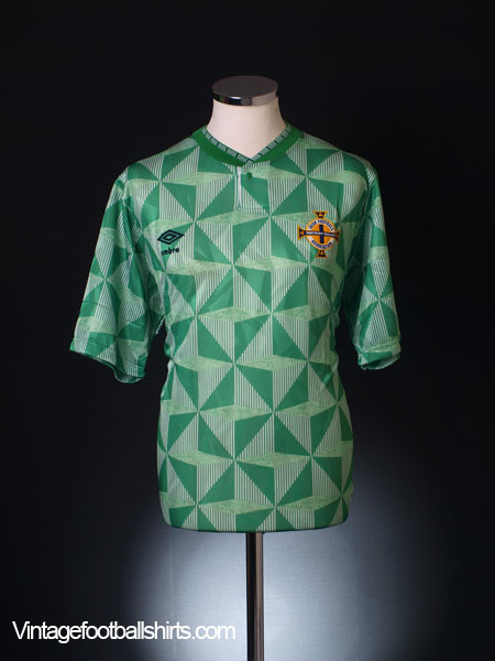 1990-92 Northern Ireland Home Shirt L