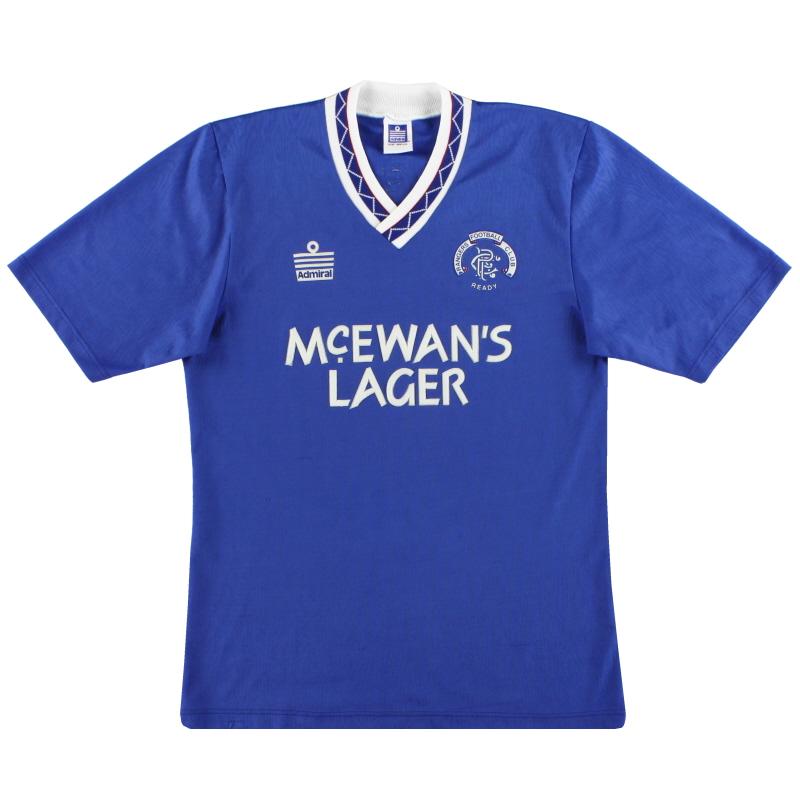 1990-92 Rangers Admiral Home Shirt S