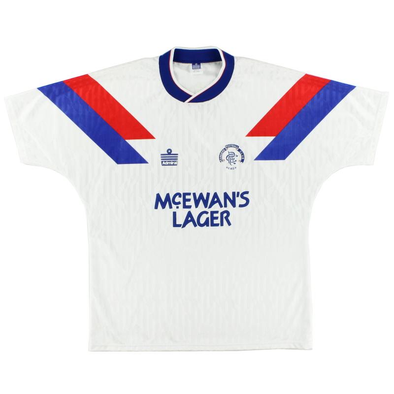1990-92 Rangers Away Shirt *Mint* XL