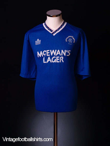 1990-92 Rangers Home Shirt S