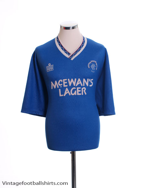 1990-92 Rangers Home Shirt XL