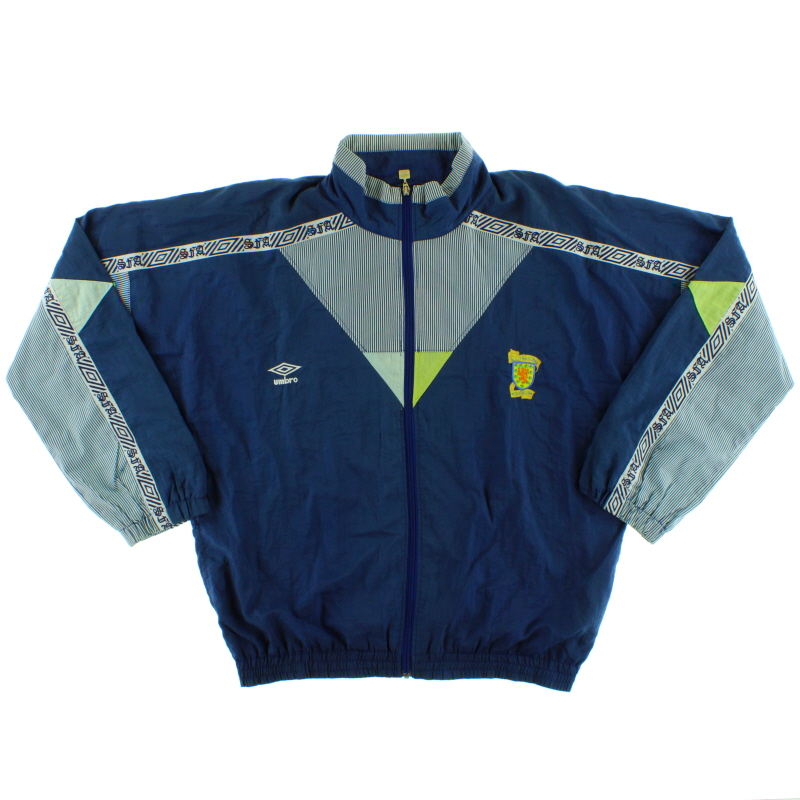 1990-92 Scotland Umbro Track Jacket L