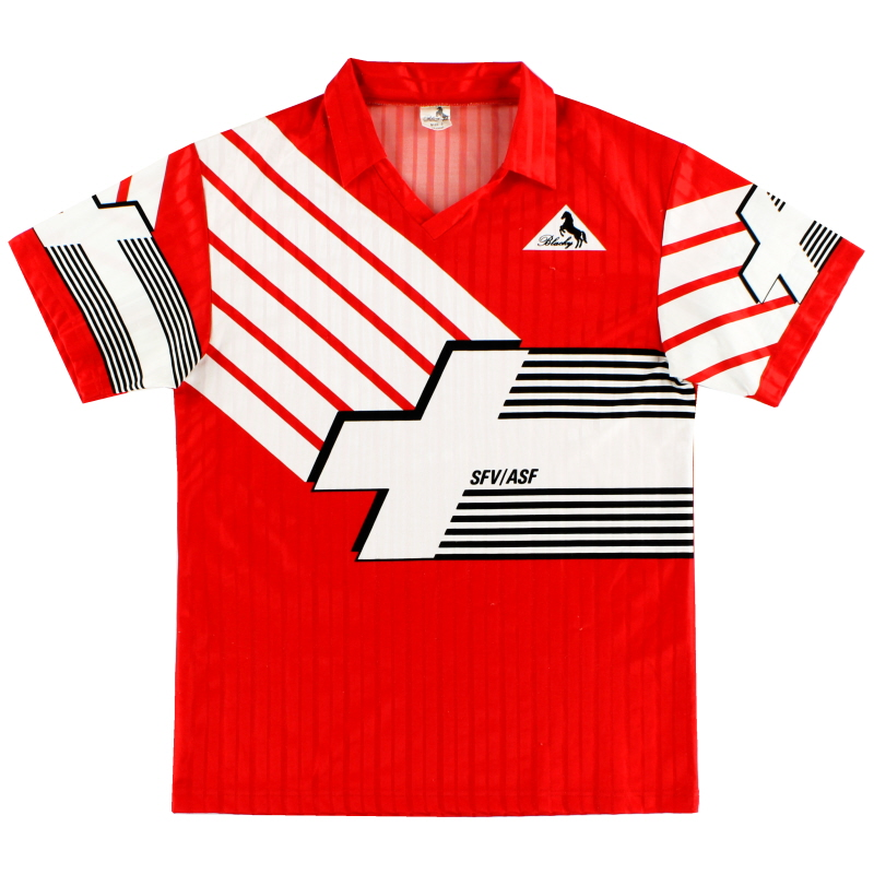 1990-92 Switzerland Home Shirt L