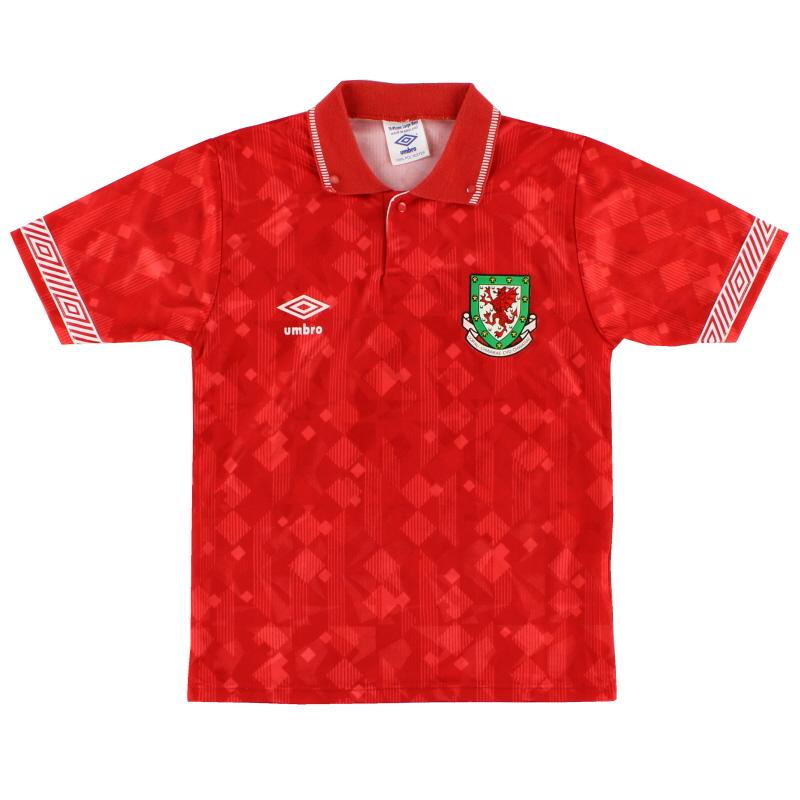 1990-92 Wales Home Shirt *Mint* L.Boys