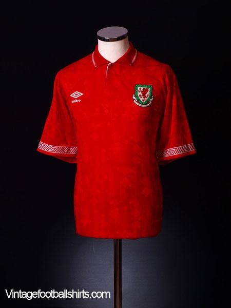 1990-92 Wales Home Shirt L