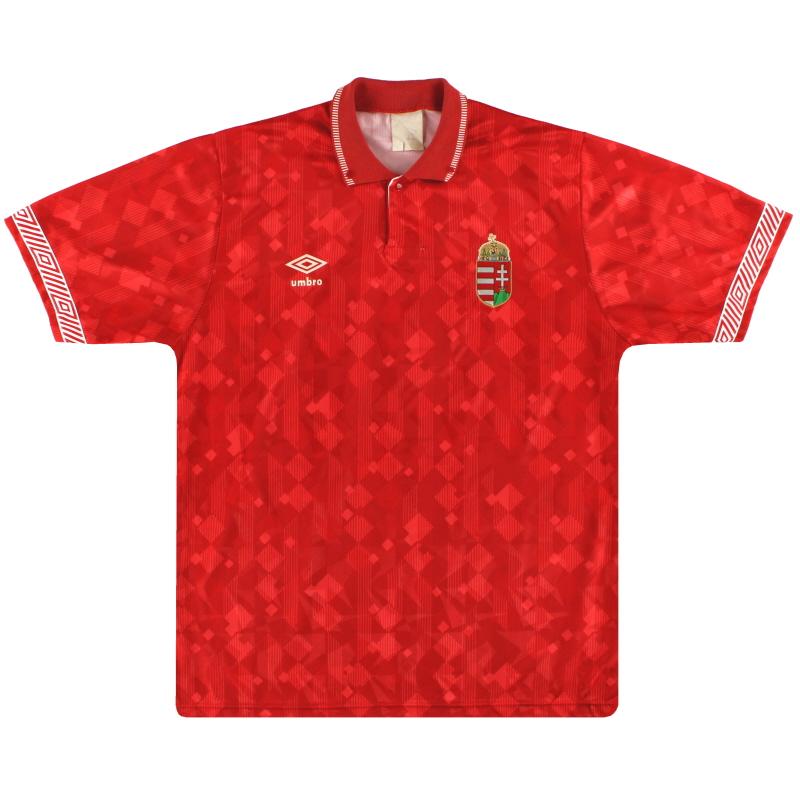 1990-93 Hungary Umbro Home Shirt L