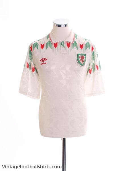1990-93 Wales Away Shirt XL
