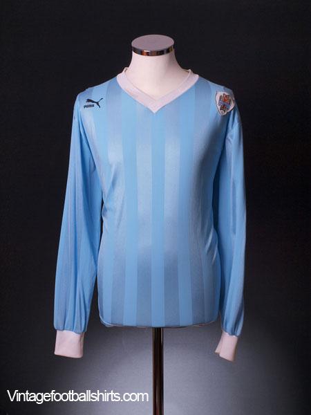 1990 Uruguay Home Shirt #8 L/S L