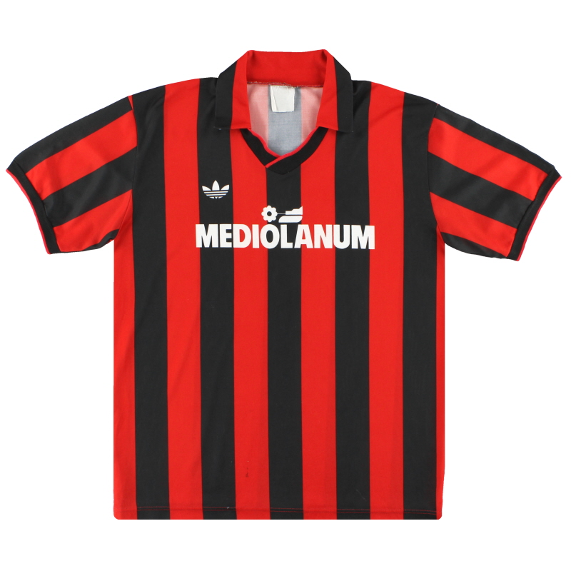 1991-92 AC Milan adidas Home Shirt L