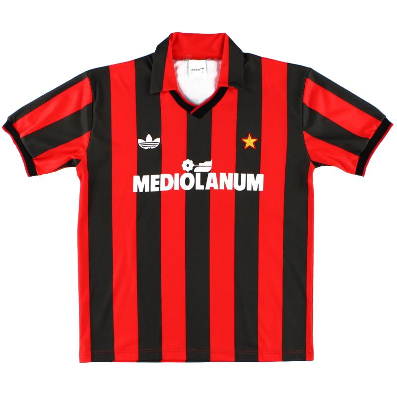 1991-92 AC Milan adidas Home Shirt M