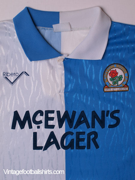 1991 92 blackburn home shirt l for sale for Blackburn home