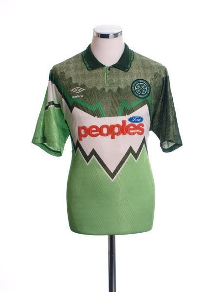 1991-92 Celtic Away Shirt L