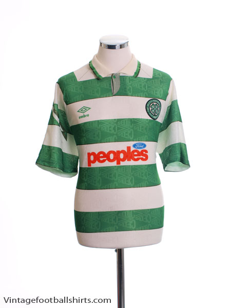 1991-92 Celtic Home Shirt XXL
