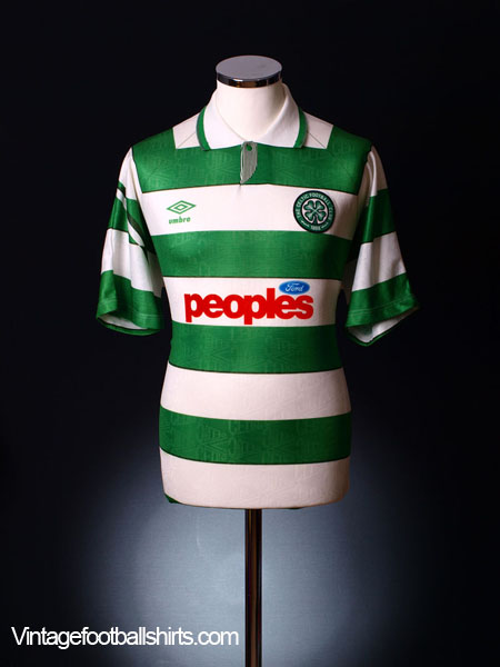 1991-92 Celtic Home Shirt XL
