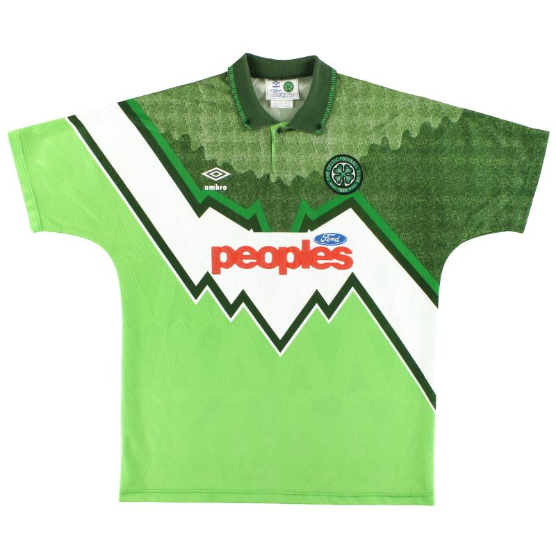 1991-92 Celtic Umbro Away Shirt S