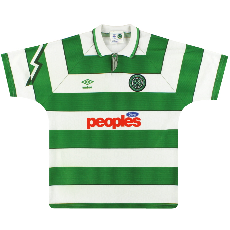1991-92 Celtic Umbro Home Shirt M