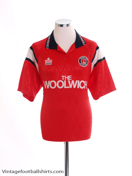 1991-92 Charlton Home Shirt L