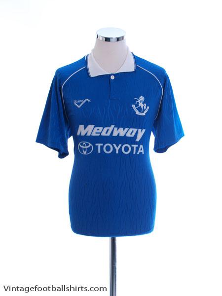 1991-92 Gillingham Home Shirt M