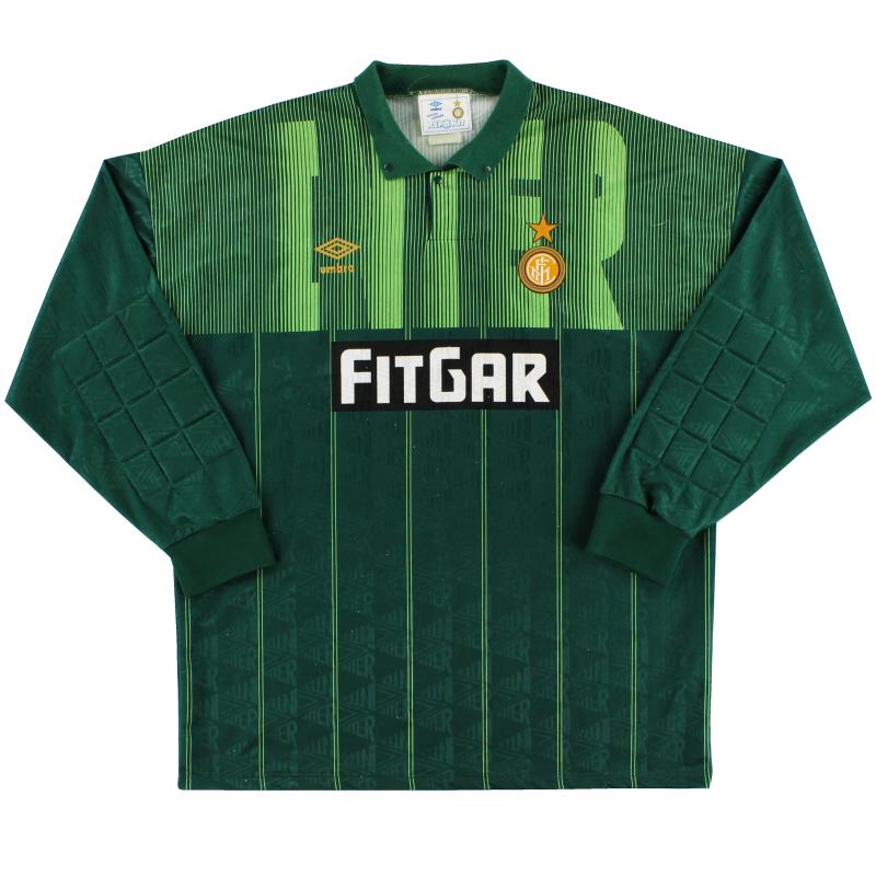 1991-92 Inter Milan Goalkeeper Shirt XL